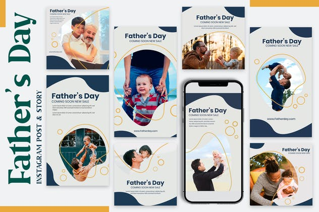 Father Day - Instagram Post & Story Templates