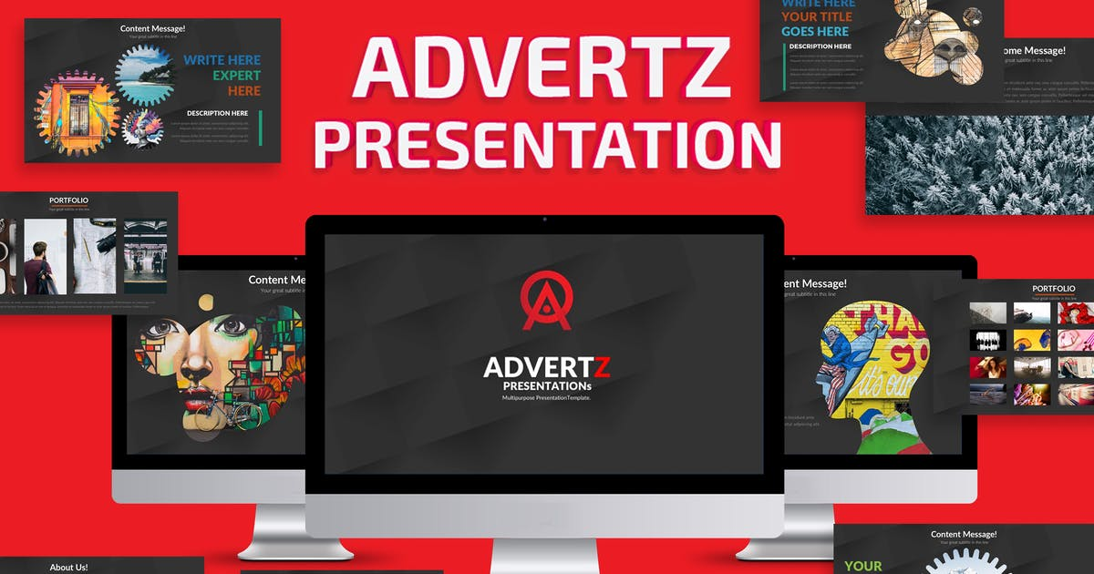 Download Advertz Keynote Template by mamanamsai