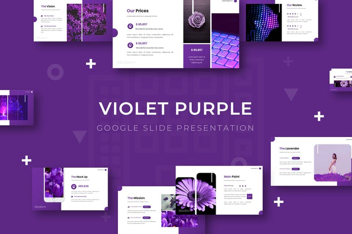 Thumbnail for Violet Purple - Google Slide Template