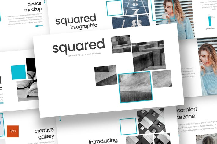 Thumbnail for Squared - Powerpoint Template