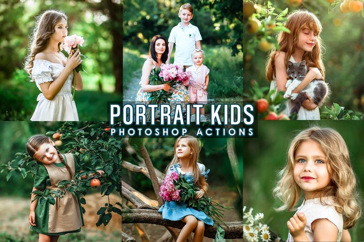 Thumbnail for Portrait Kids Photoshop Actions