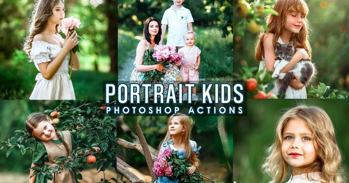 Download Portrait Kids Photoshop Actions by 2lagus