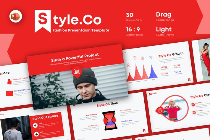 Thumbnail for Style.co Мода Powerpoint Шаблон