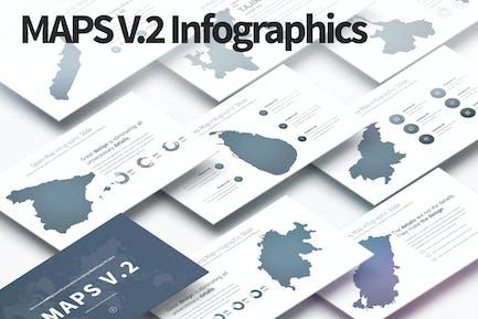 MAPS V.2 - PowerPoint Infographics Slides