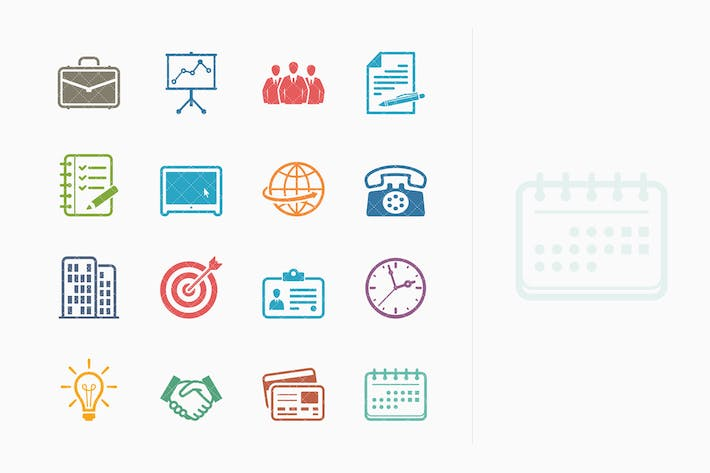 Thumbnail for Business & Office Icons - Colored Series