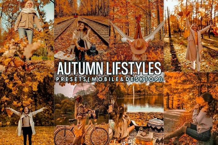 Thumbnail for Autumn Lightroom Presets ( mobile and Desktop )