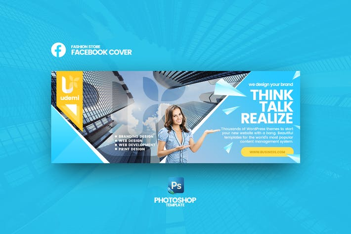 Thumbnail for Udemi - Business Facebook Cover Template