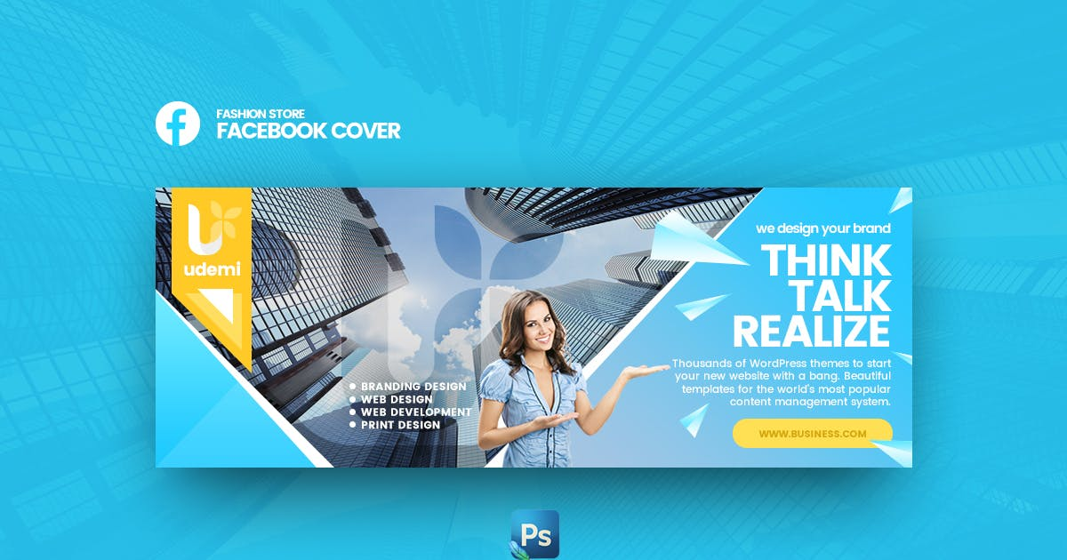 Download Udemi - Business Facebook Cover Template by Last40