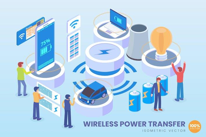 Thumbnail for Isometric Wireless Power Transfer Vektor konzept