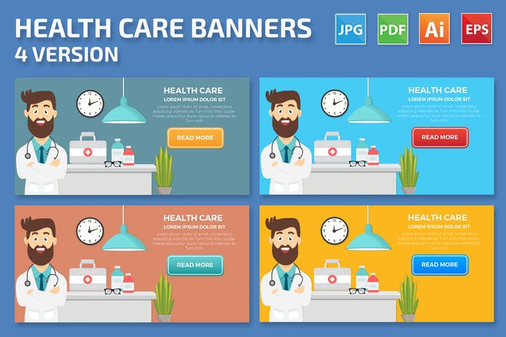 Thumbnail for Health Care Banners Design