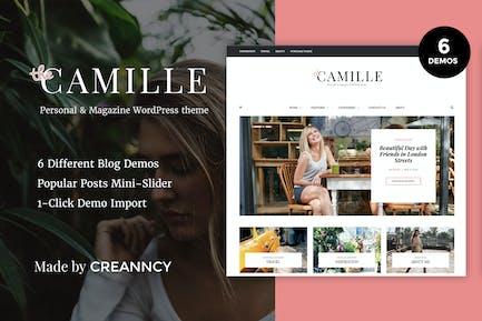 Camille - Personal & Magazine WordPress Blog Theme