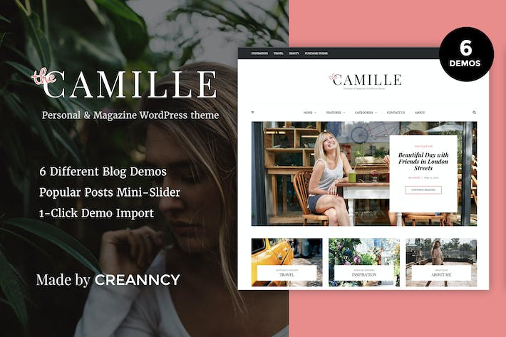 Thumbnail for Camille - Personal & Magazine WordPress Blog Theme