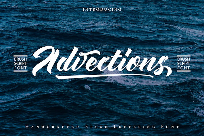 Thumbnail for Advections | Brush Script Font