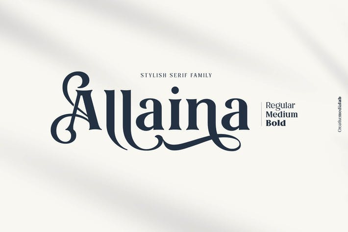Thumbnail for Allaina - Stylish Serif Family