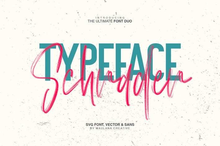Thumbnail for Schrader SVG Brush Font