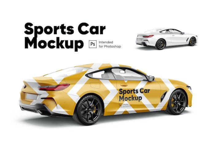 Sportwagen-Mockup
