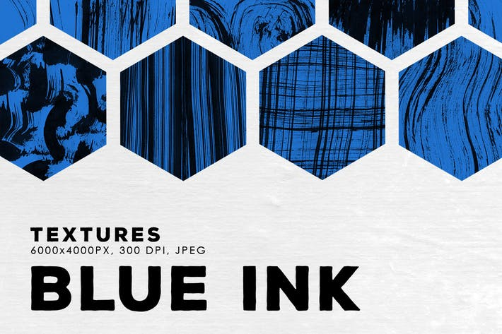 Thumbnail for Blue Abstract Ink Textures