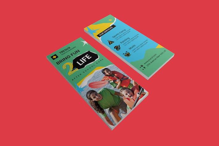 Thumbnail for Kids DL Rackcard PSD Template