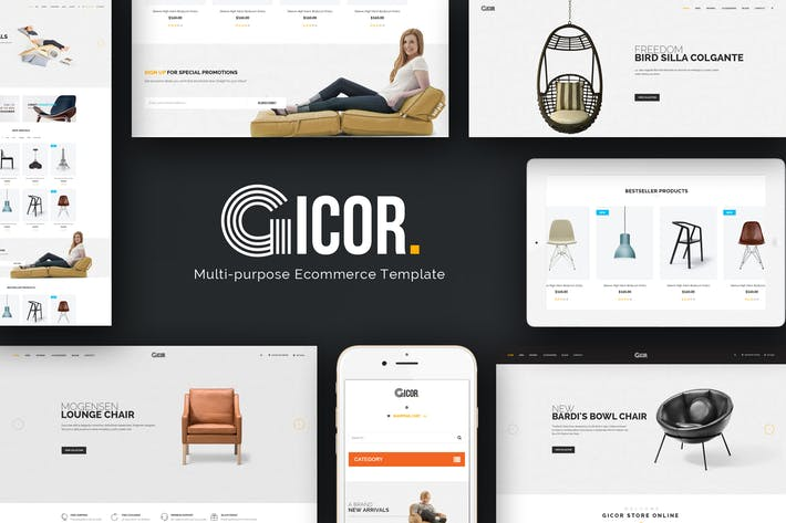 Thumbnail for Gicor - Furniture Responsive Magento 2 Theme