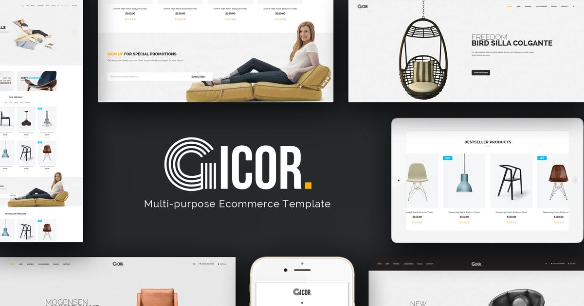 Download Gicor - Furniture Responsive Magento 2 Theme by Plaza-Themes