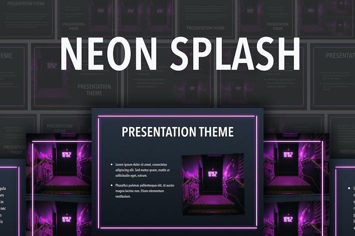 Thumbnail for Neon Splash PowerPoint Template