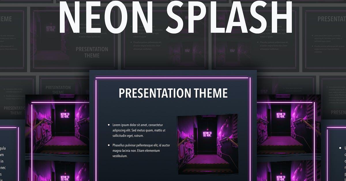 Download Neon Splash PowerPoint Template by Jumsoft