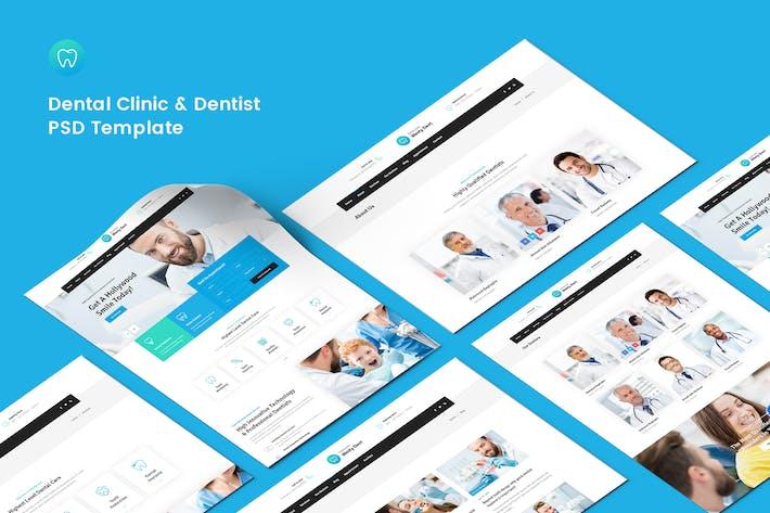 Thumbnail for Dental Clinic & Dentist PSD Template
