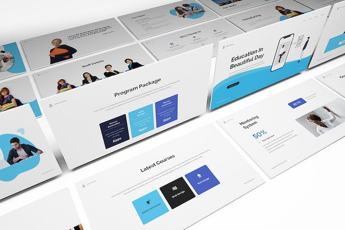 Thumbnail for Online Course Powerpoint Template