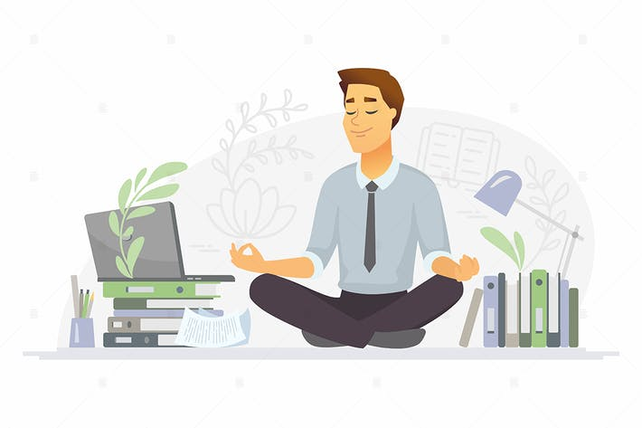 Thumbnail for Mindfulness - cartoon character illustration
