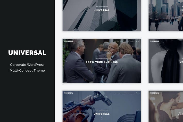 Thumbnail for Universal - Corporate WordPress Multi-Concept Them