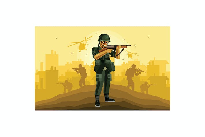 Thumbnail for Soldier Character Graphics Vector Illustration