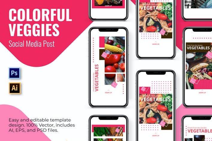 Thumbnail for Colorful Social Media Template