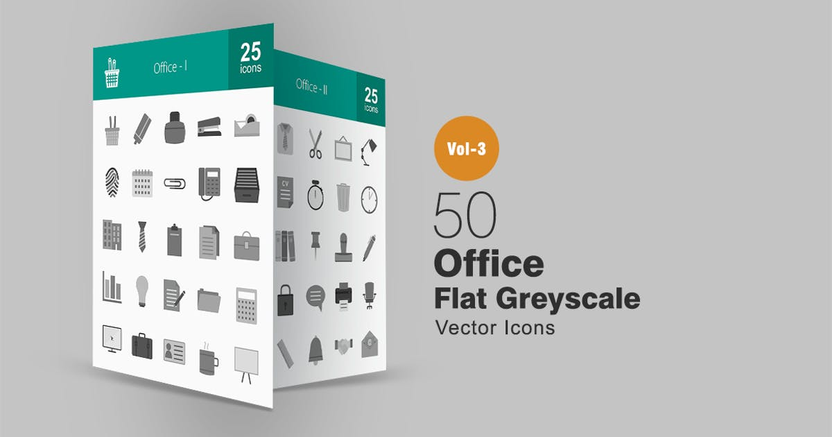 Download 50 Office Greyscale Icons by Unknow