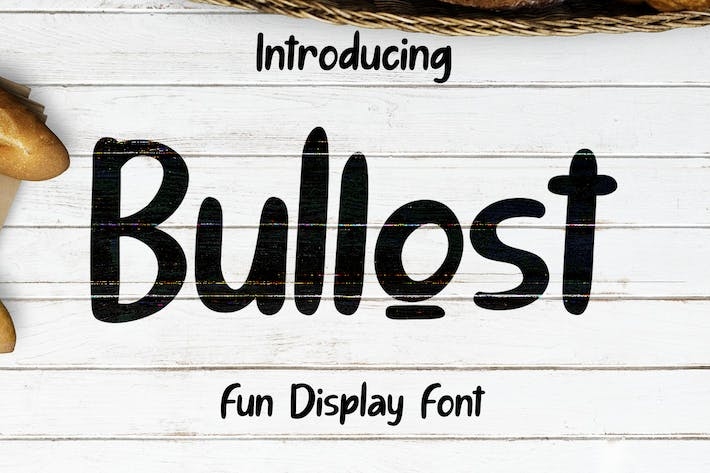 Thumbnail for Bullost  Fun Display Font