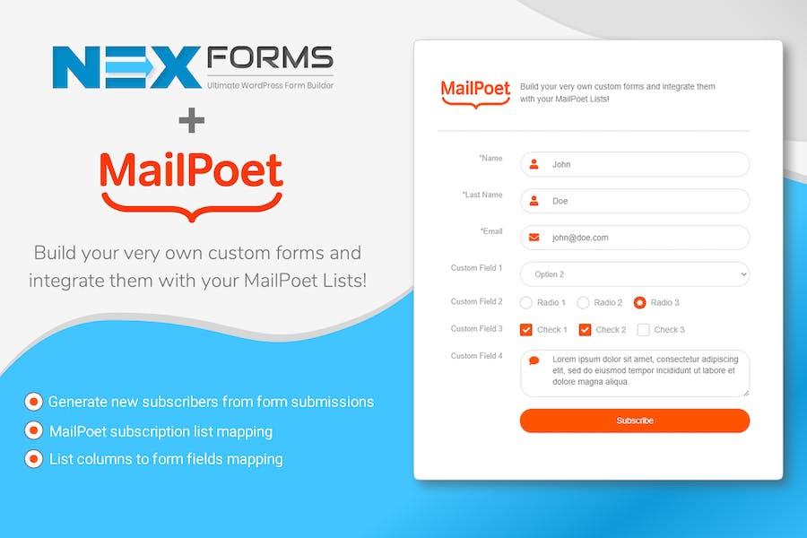 NEX-Forms - MailPoet Add-on
