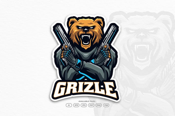 Bear Grizzly Sport Soldier Military Animal Mascot