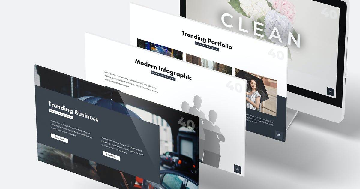 Download Clean  - Google Slides Template by aqrstudio