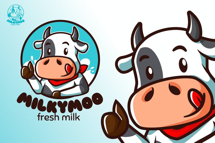 Thumbnail for MilkyMoo - Maskottchen & Esport Logo