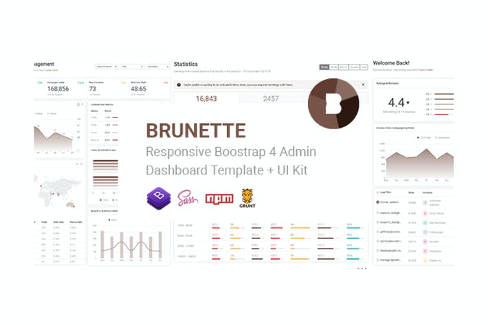Thumbnail for Brunette - Bootstrap 4 Admin & Powerful UI Kit