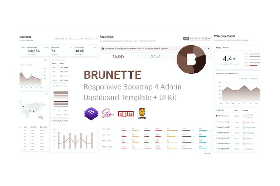 Brunette - Bootstrap 4 Admin & Powerful UI Kit