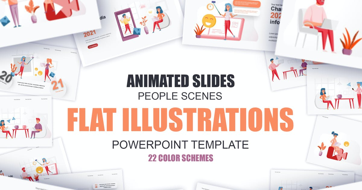 Download Social Media Flat Illustration Powerpoint Template by alexdndz