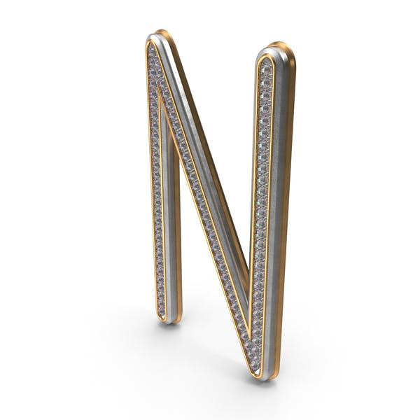 Буква N с бриллиантами