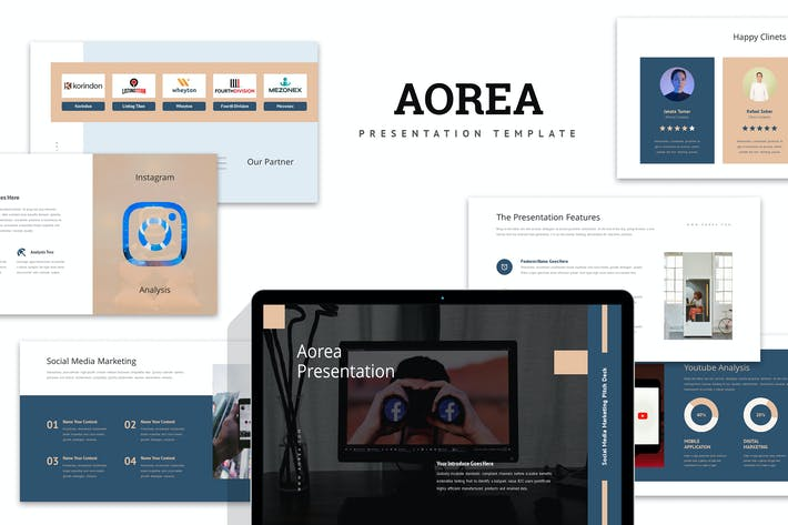 Thumbnail for Aorea : Socmed Marketing Pitch Deck Keynote