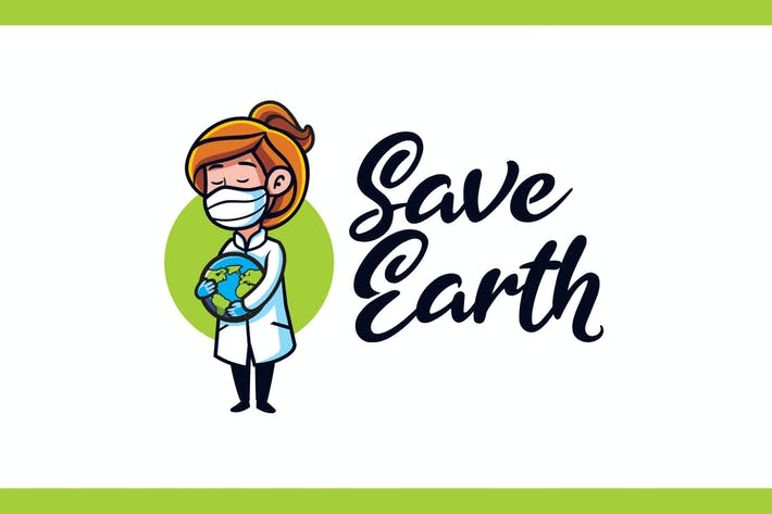 Thumbnail for Save Earth - Medical and Healthcare Mascot Logo