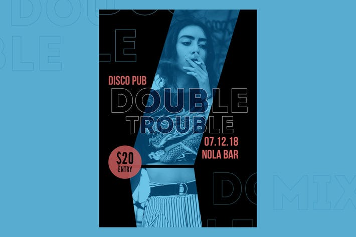 Thumbnail for Double Trouble Flyer Poster