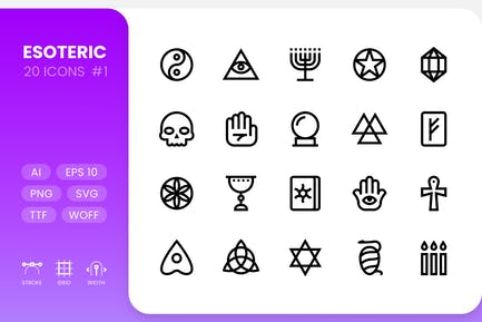 Esoteric - Line Icons