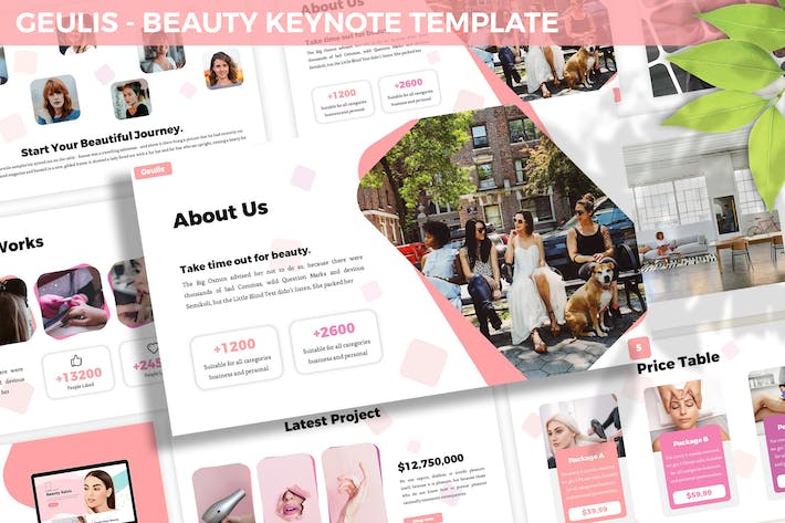 Thumbnail for Geulis - Beauty Keynote Template