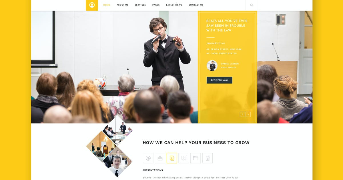 Download Mitri Events - Events & Conference HTML Template by WPmines