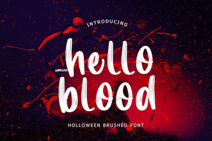 Thumbnail for Hello Blood Helloween Brush Font