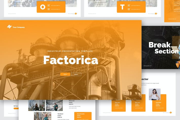 Thumbnail for Factory & Industrial Google Slides Presentation